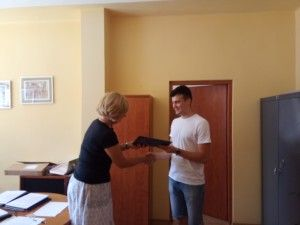 Filip z dyrektorem
